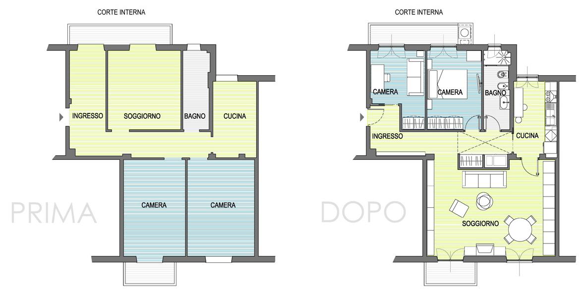 Ristrutturazione appartamento ostiense roma nia for Esempi di ristrutturazione appartamento