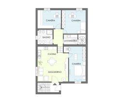 Progettazione online appartamento 110 mq