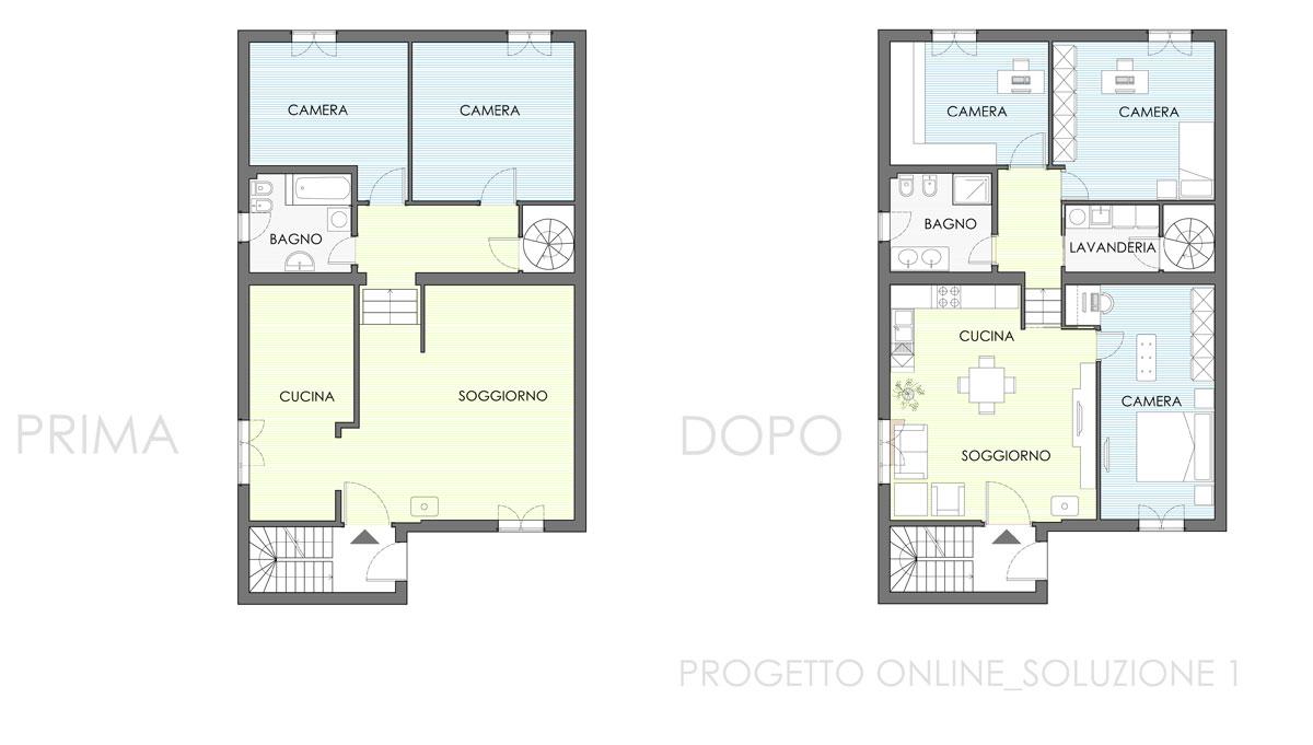 Progetto Bagno 3 Mq progettazione online appartamento 110 mq | nia