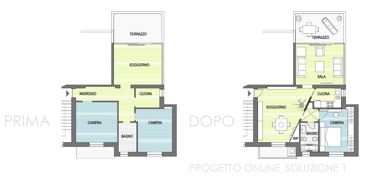 Progettazione online appartamento 80mq nia for Progettazione on line