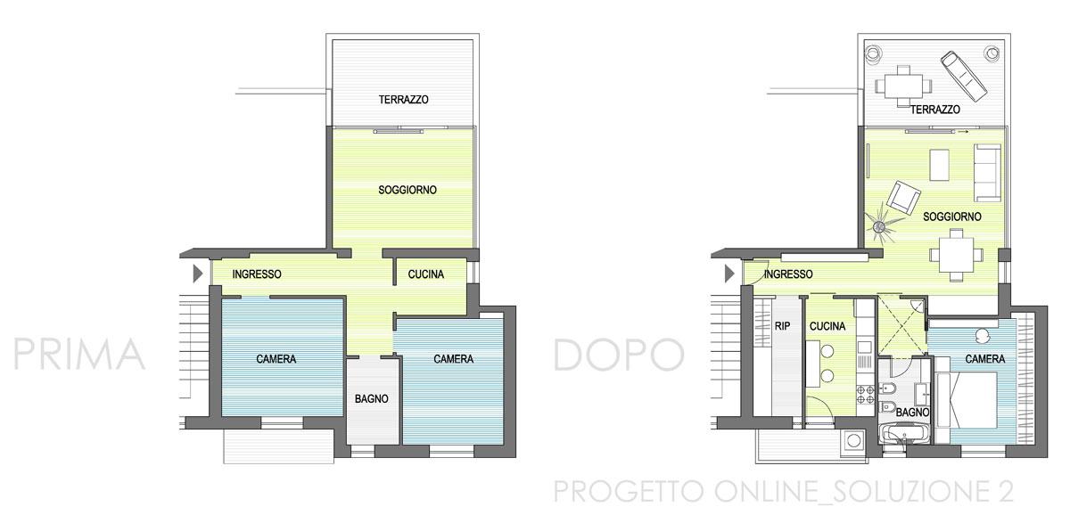 Progettazione online appartamento 80mq nia for Progettazione online
