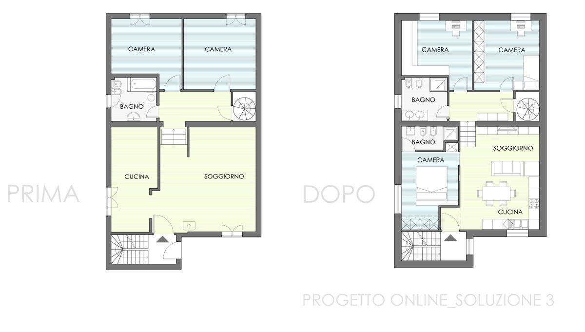 Progettare stanza online elegant cucina con isola e for Disegnare la pianta del piano di casa