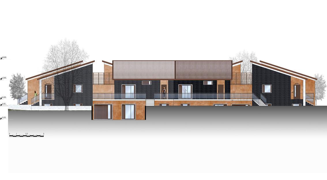 Progetto di finiture esterne per ville nia for Finiture esterne per case